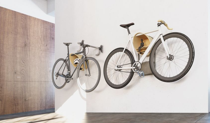 Cova Wall-Mounted Bike Rack by Mooose has a Shelf for Your Gear