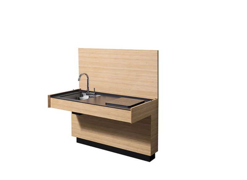 AC 01 designer compact kitchen by Atelier Mendini