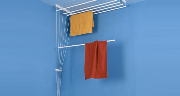 Airavie Ceiling-Mounted Clothes Drying Rack with Seven Independent Bars