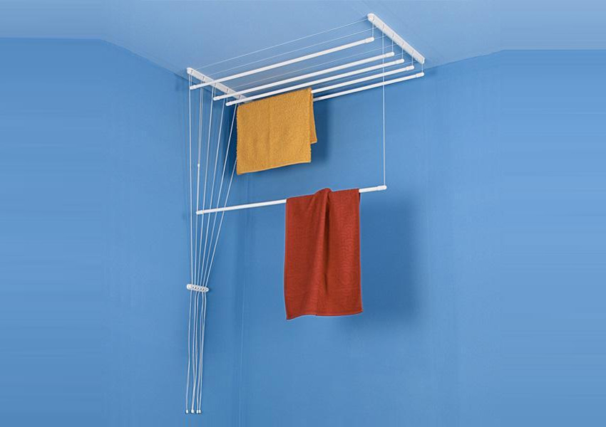 Airavie Ceiling Mounted Clothes Drying Rack With Seven