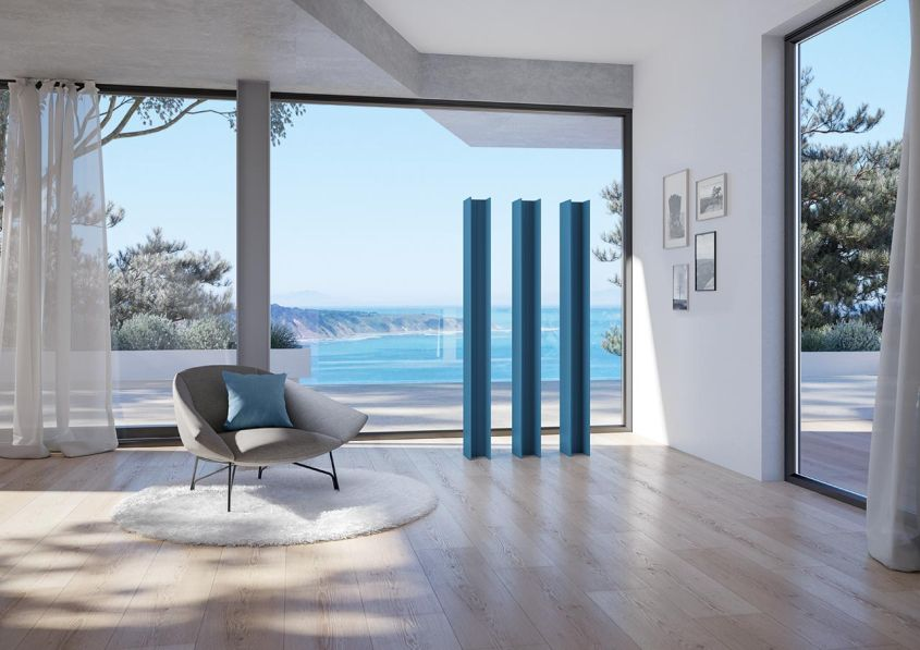 Antrax its new vertical radiator for modern living rooms