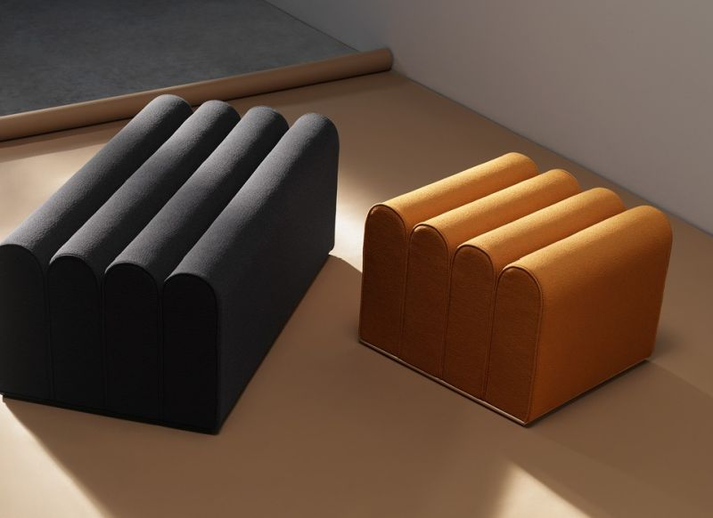 Arkad Designer Poufs by Note Design Studio for Zilio A&C
