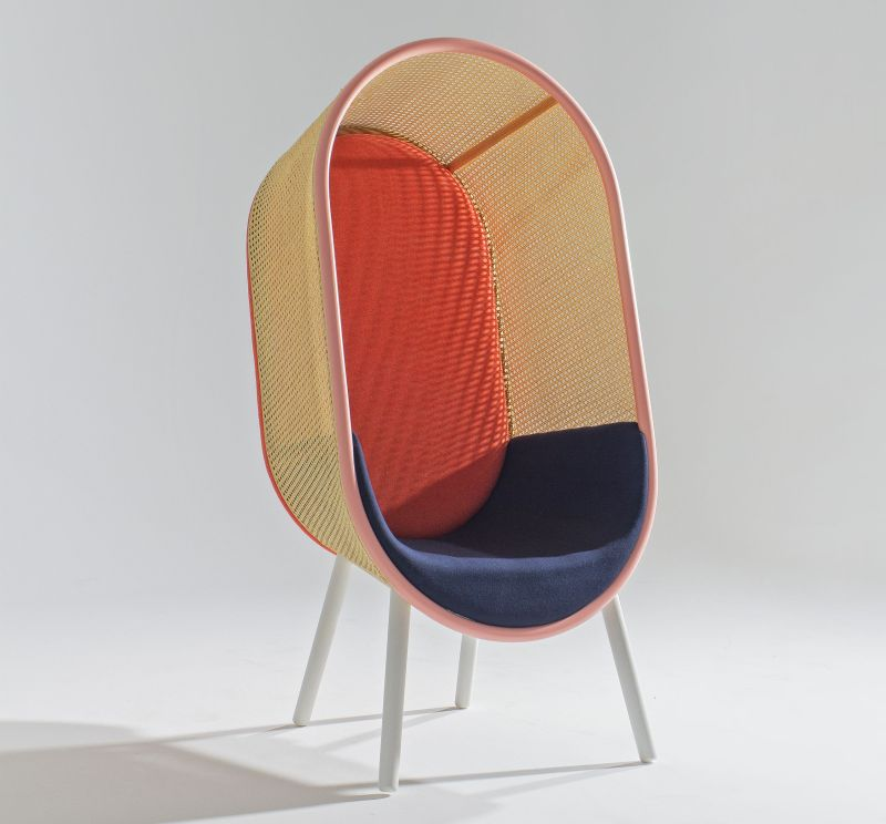 Boho Style Rattan Lounge Chair by Kevin Hviid and Martin Kechayas