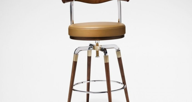 David Linley's Rifle Bar Stool with Shotgun-Inspired Legs