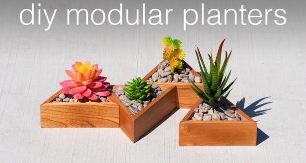 DIY modular succulent planter