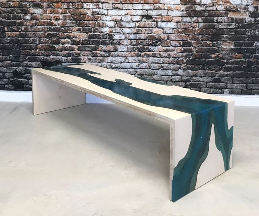 Epoxy Waterfall Coffee Table by Revive Joinery
