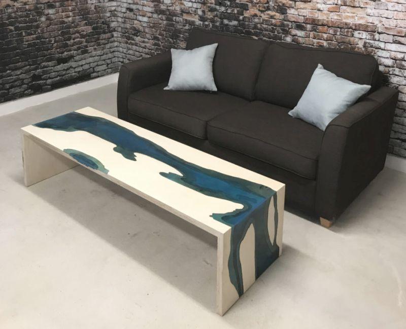 Waterfall Wood Coffee Table