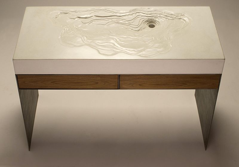 Erosion Washbasin by Brandon Gore for Concrete Home Décor Lovers