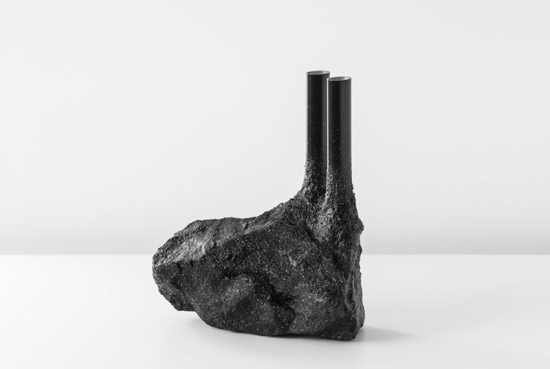 Fusion Vase by Ferreol Babin Depicts Nature Spreading Over Man-Made World