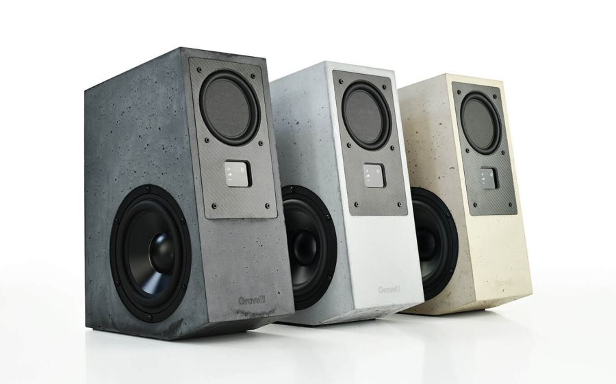Enjoy Wireless Music With Gravelli Virtuoso Concrete Speakers
