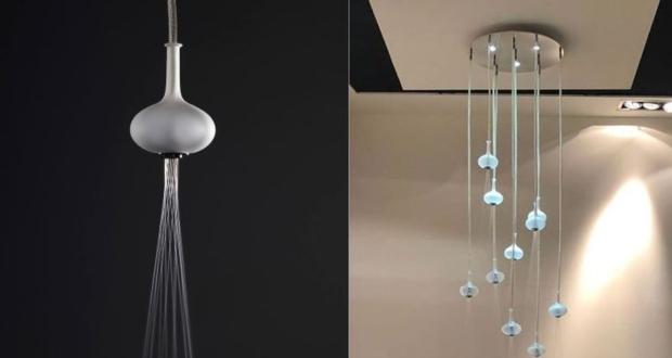 Melograno Showerhead Looks Like Glass Ball Chandelier