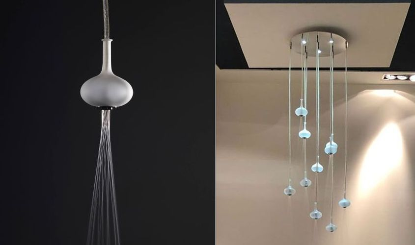 Melograno Showerhead Looks Like Glass Ball Chandelier