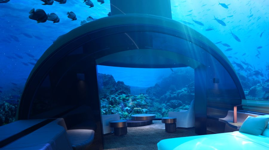 Muraka underwater hotel in maldives rangali island for Hotel conrad maldives rangali island resort