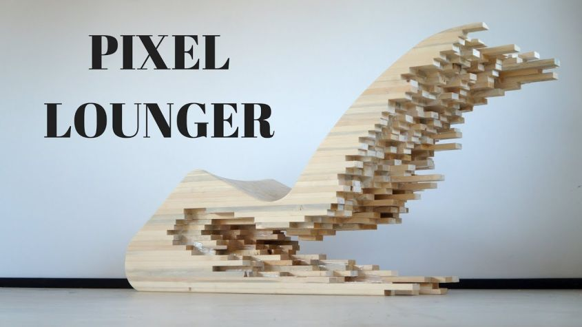Pixel Wooden Lounge Chair by Lignum Mimics Cityscape