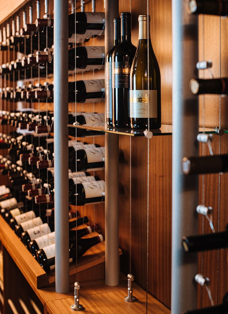 Sommi Turns This Basement Nook into a Custom Wine Room