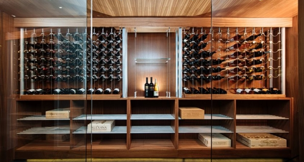 Sommi Turns Basement into Custom Wine Room