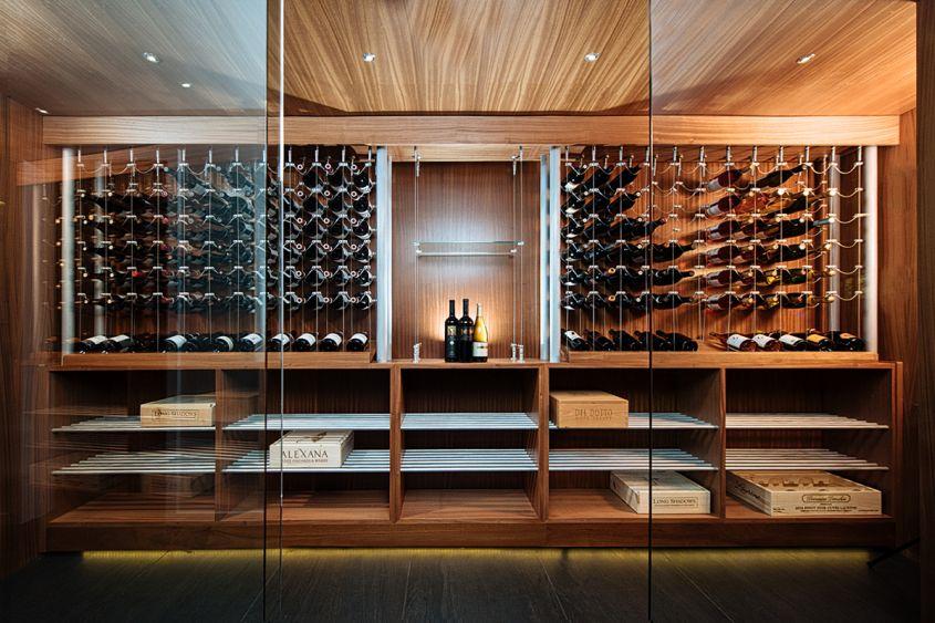 Sommi Turns Basement into Custom Wine Room