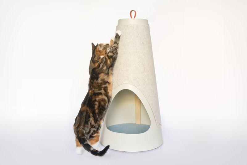 The Cone cat bed cum scratching post by WISKI