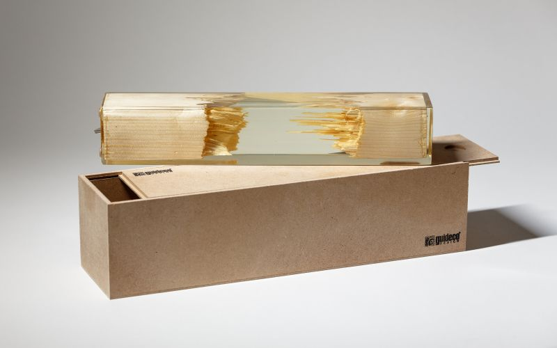 Wood and Resin Lamp by Guideco Design