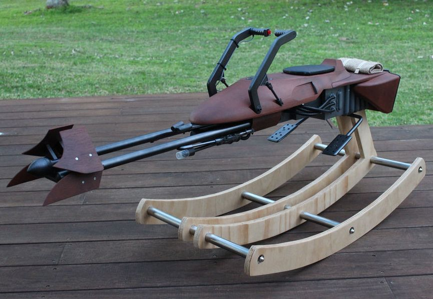 74-Z Speeder Bike rocking horse by Tez Gelmir - DIY