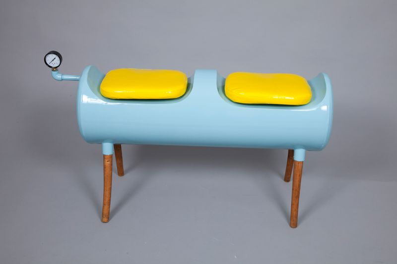 79°C Upcycled Bench by Nelly Trakidou