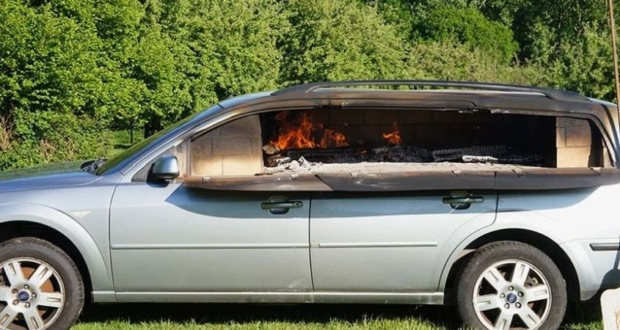 Benedetto Bufalino Turns Old Car into Wood-Fired Pizza Oven