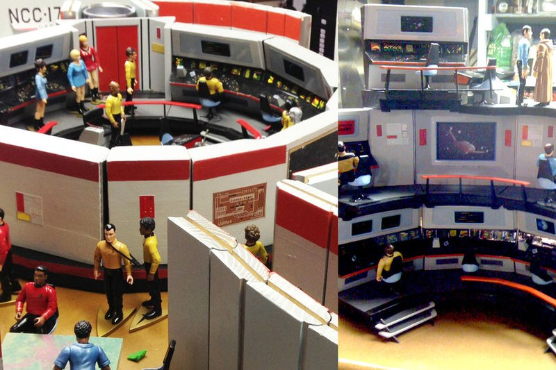 DIY Star Trek playset by David Weiberg
