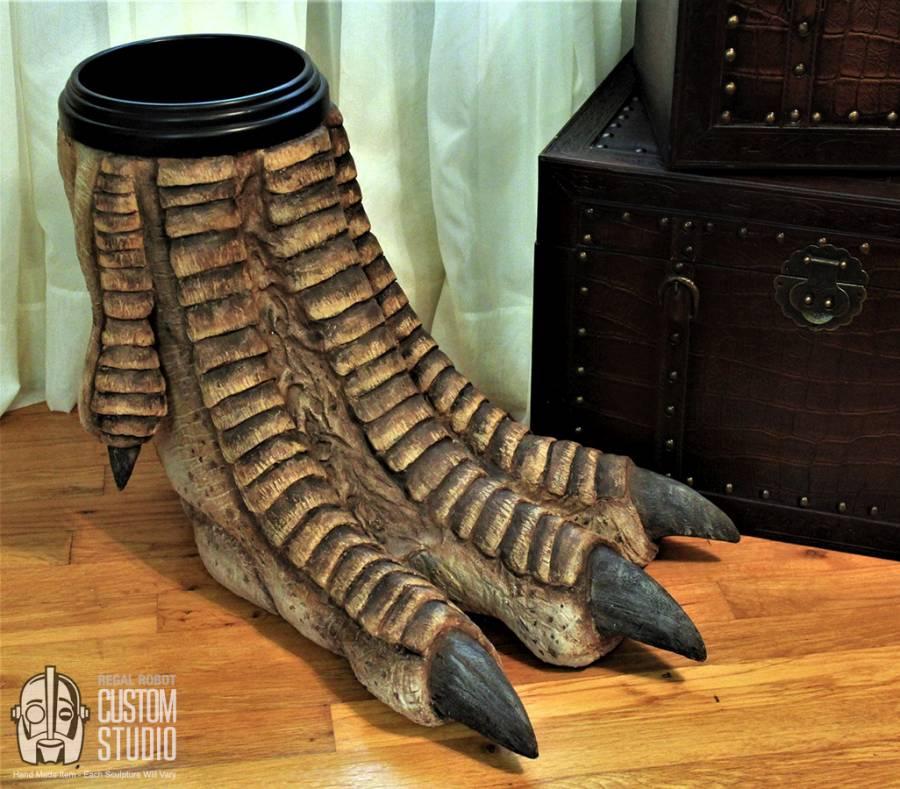 Dinosaur Foot Waste Basket by Regal Robots
