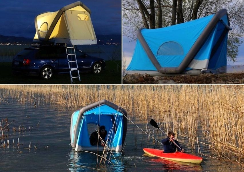 GT Roof Inflatable Rooftop Tent also floats on water