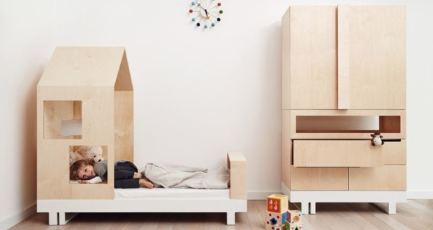 House-Shaped Plywood Kids' Bed from Kutikai