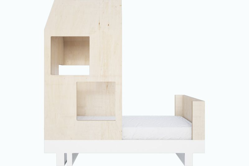 House-Shaped Plywood Toddler Bed from Kutikai