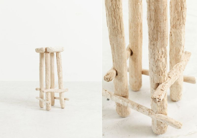 How about scratching and Biting Wood to Make a Stool?