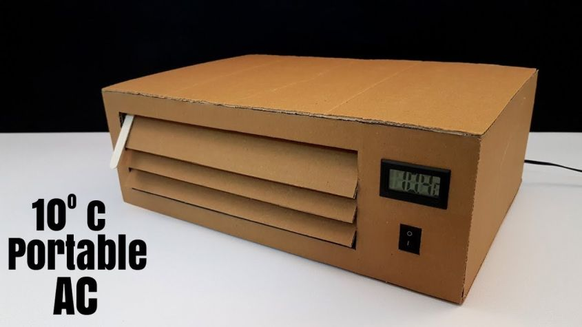 Diy Portable Air Conditioner Made From Cardboard