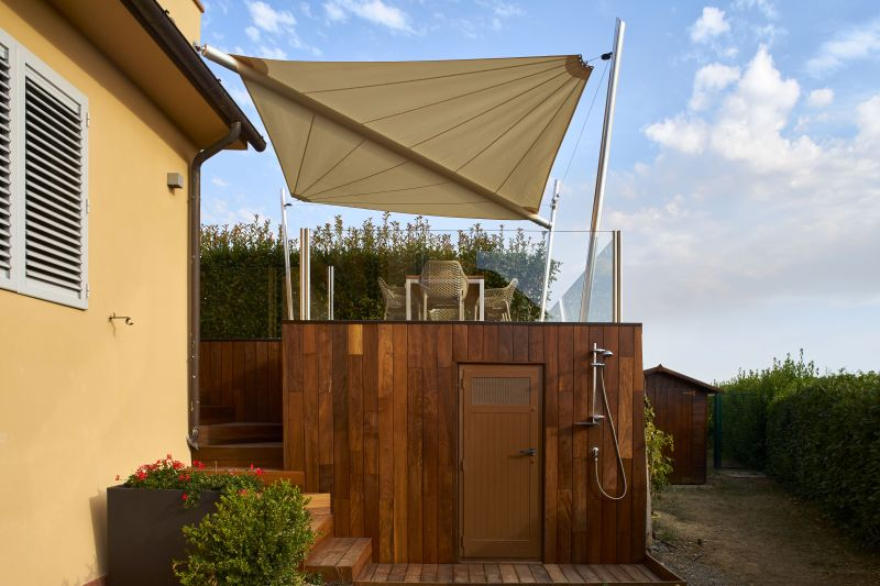 Kheope Motorized Shade Sails by KE Outdoor Design is Made from Nautical Fabric