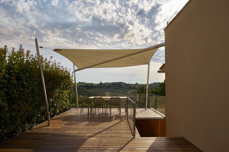 Highly Durable Motorized Shade Sails Made From Nautical Fabric