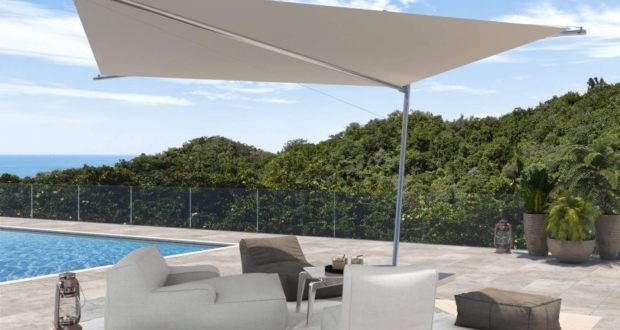 Kolibrie Motorized Shade Sails by KE Outdoor Design are Made from Nautical Fabric