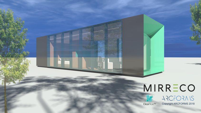 Mirreco's Prototype Hemp House with Energy-Generating Facade