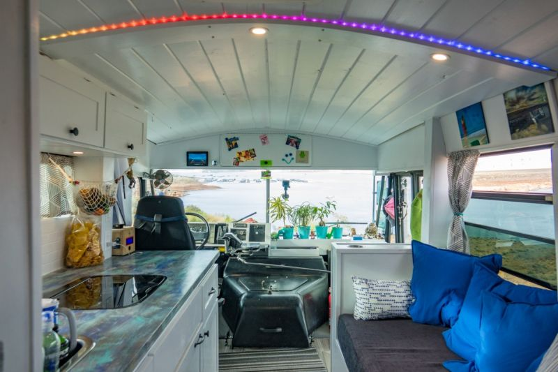 Converted Bus Home by Nicholas and Heather