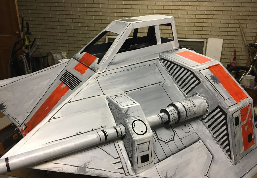 X Wings Cardboard Star Wars snowspeeder -DIY