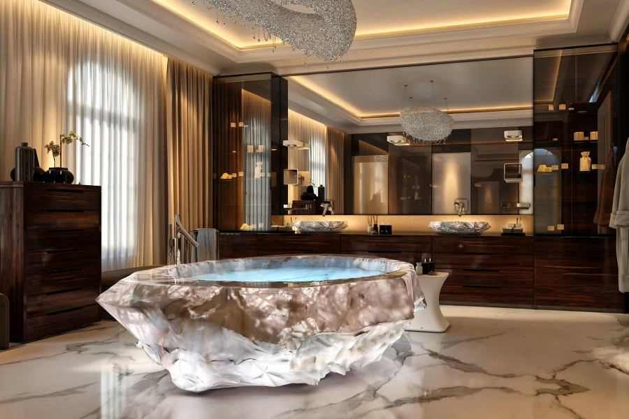 Dubai\'s XXII Carat Villas Feature Baldi\'s $1 Million Crystal Bathtubs