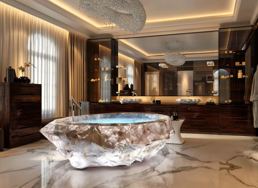 Amethyst Crystal Bathtub