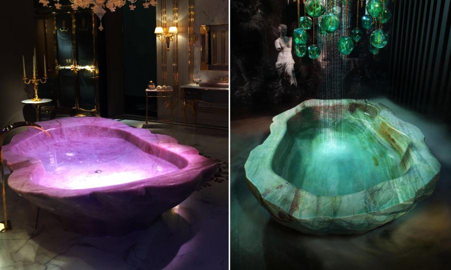 Baldi Home Jewels Rock Crystal Bathtub