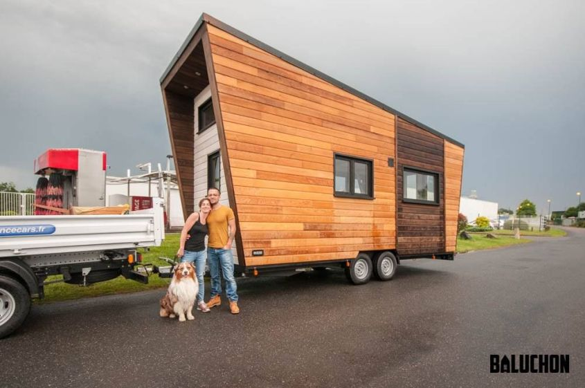 Baluchon Latest Intrépide Tiny House for Emilie, Damien and their Dog Janpol!