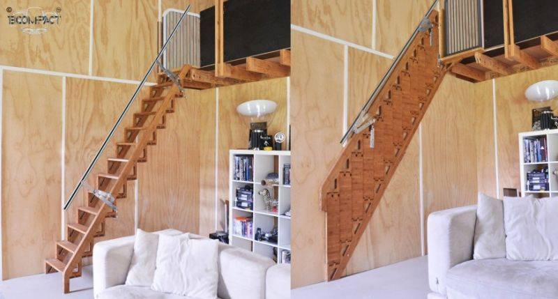 Bcompact S Hybrid Stairs Fold Flat To Provide More Living