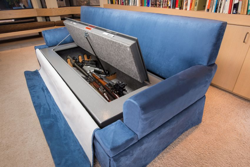 Couch bunker gun safe