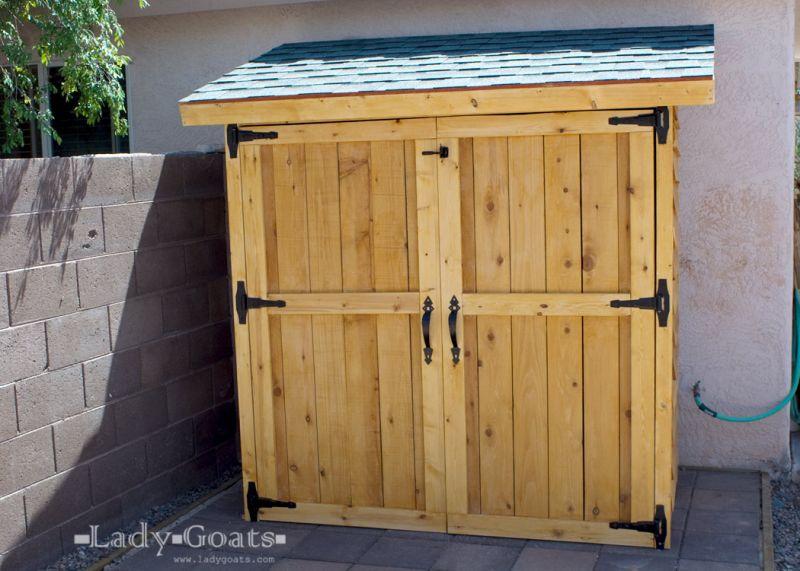 DIY Cedar Fence Picket Outdoor Storage Shed