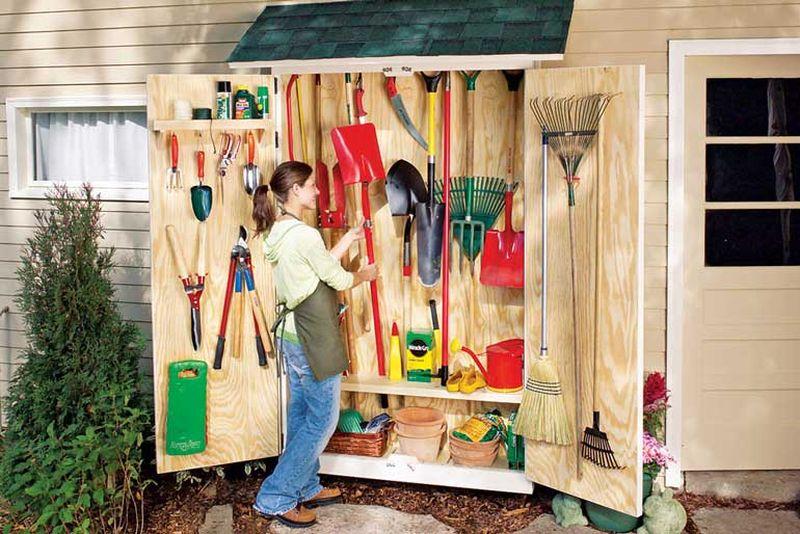 DIY Garden Tool Cabinet