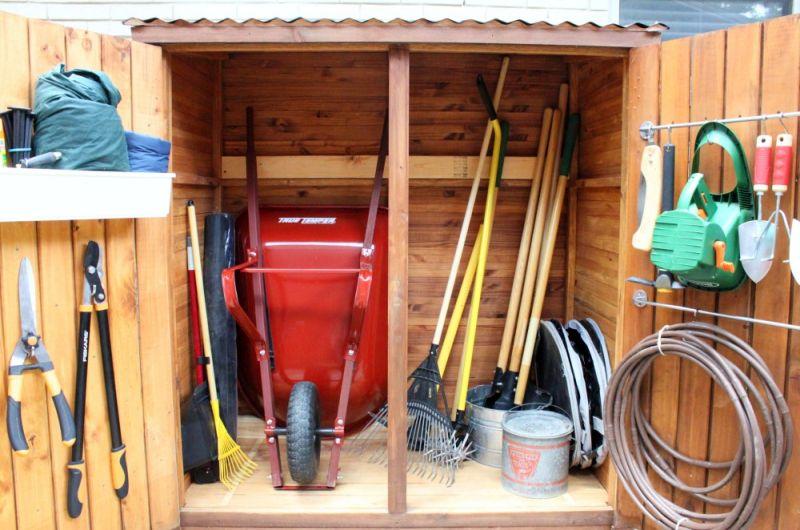 Garden Tool Organization Outside