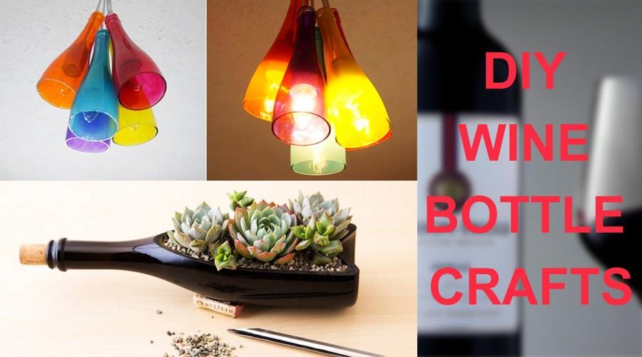 DIY-wine-bottle-crafts - recycle-wine-bottle