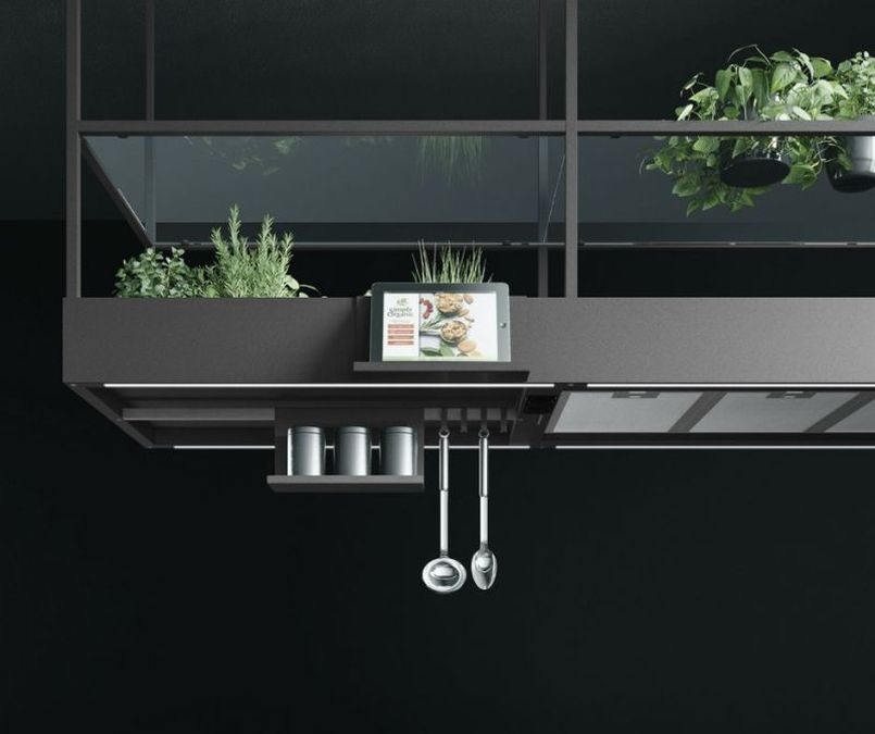 Falmec's Spazio Range Hood with USB Ports and Tablet Holder